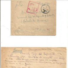 Militaria: SOBRE Y CARTA. VOLUNTARIO DE LA DIVISIÓN AZUL. 14 JUNIO 1942.. EN EL FRENTE.. Lote 286880013