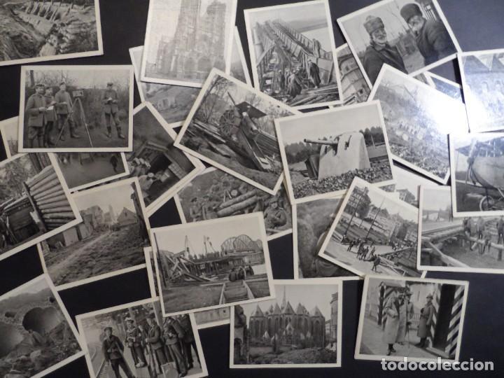 31 FOTOS-CROMOS DER WELTKRIEG 1914-18. I GUERRA MUNDIAL. EN BLANCO Y NEGRO. ED. AÑO 1936 (Militar - Fotografía Militar - I Guerra Mundial)