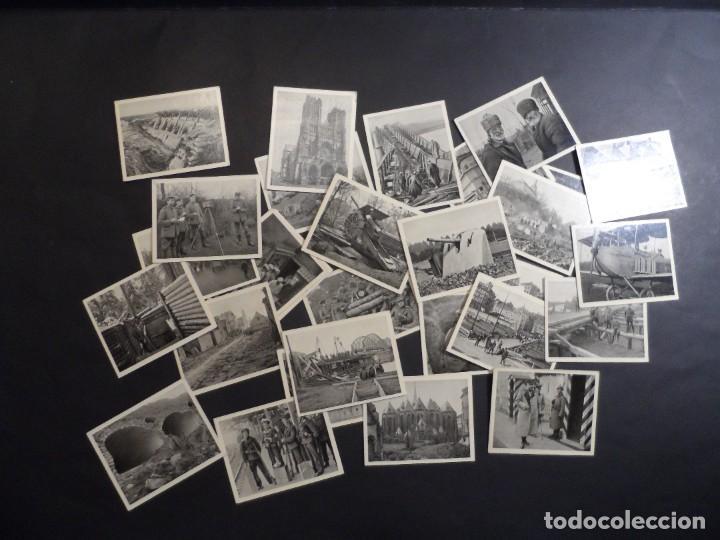 Militaria: 31 FOTOS-CROMOS DER WELTKRIEG 1914-18. I GUERRA MUNDIAL. EN BLANCO Y NEGRO. ED. AÑO 1936 - Foto 2 - 287366673