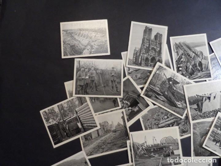 Militaria: 31 FOTOS-CROMOS DER WELTKRIEG 1914-18. I GUERRA MUNDIAL. EN BLANCO Y NEGRO. ED. AÑO 1936 - Foto 4 - 287366673