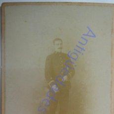 Militaria: FOTOGRAFÍA ANTIGUA. MILITAR DE ARTILLERÍA. FOTÓGRAFO RAFAEL MONTES. SEGOVIA (16,5 X 10,5). Lote 287948198