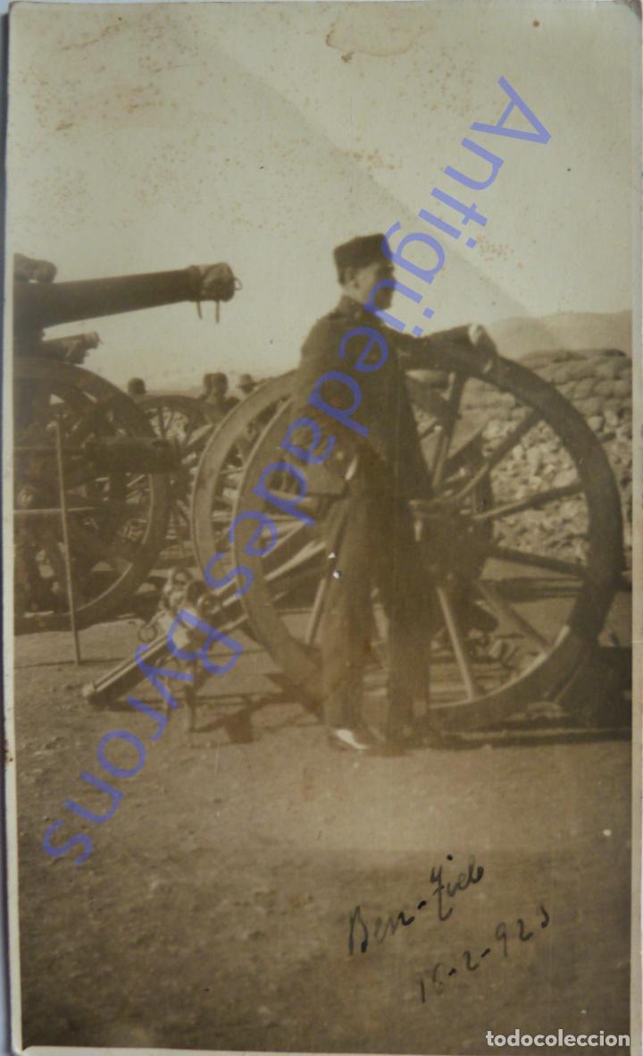 FOTOGRAFÍA ANTIGUA. MILITAR DE ARTILLERÍA. GUERRA DE ÁFRICA. BEN TIEB. MARRUECOS 16/2/1923 (Militar - Fotografía Militar - Otros)