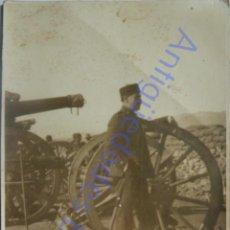 Militaria: FOTOGRAFÍA ANTIGUA. MILITAR DE ARTILLERÍA. GUERRA DE ÁFRICA. BEN TIEB. MARRUECOS 16/2/1923. Lote 287949128