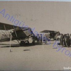 Militaria: FOTOGRAFÍA ANTIGUA. AEROPUERTO DE GANDO. GRAN CANARIA. AVIONES BREGUETS. AÑO 1924. Lote 287989573