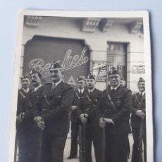 Militaria: MILICIA DE LA CORUÑA GUERRA CIVIL ESPAÑOLA FOTO BLANCO LA CORUÑA. Lote 288379823