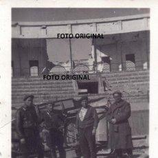 Militaria: PLAZA TOROS TERUEL REQUETES RARA FOTO DENTRO FRENTE GUERRA CIVIL. Lote 288681413