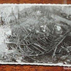 Militaria: FOTOGRAFIA DE BOMBARDEO SOBRE MADRID GUERRA CIVIL, FEBRERO 1937, CALLE CAMPOMANES 8, MIDE 11,3 X 8,7. Lote 291397743