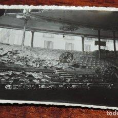 Militaria: FOTOGRAFIA DE BOMBARDEO SOBRE MADRID GUERRA CIVIL, FEBRERO 1937, CINE OPERA (INTERIOR), MIDE 11,3 X. Lote 291398718
