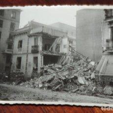 Militaria: FOTOGRAFIA DE BOMBARDEO SOBRE MADRID GUERRA CIVIL, FEBRERO 1937, CALLE ALTAMIRANO CON MARTIN DE LOS. Lote 291399313