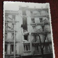 Militaria: FOTOGRAFIA DE BOMBARDEO SOBRE MADRID GUERRA CIVIL, FEBRERO 1937, MARQUES DE URQUIJO N. 19, MIDE 11,3. Lote 291399508
