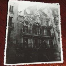 Militaria: FOTOGRAFIA DE BOMBARDEO SOBRE MADRID GUERRA CIVIL, FEBRERO 1937, CALLE ALTAMITANO N. 32, MIDE 11,3 X. Lote 291400293