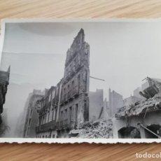 Militaria: FOTOGRAFIA DE BOMBARDEO SOBRE MADRID GUERRA CIVIL, FEBRERO 1937, ASPECTO DE PRECIADOS, MIDE 11,3 X 8. Lote 291403108
