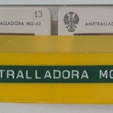 Militaria: ANTIGUO LOTE DE 26 DIAPOSITIVAS EJÉRCITO ESPAÑOL. AMETRALLADORA MG42. Lote 293972643