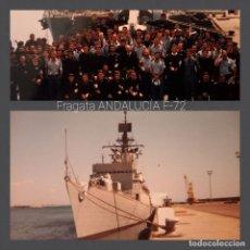 Militaria: FOTOGRAFÍAS ORIGINALES FRAGATA ANDALUCÍA (1988). Lote 294050043