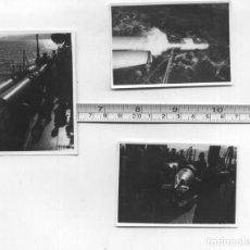Militaria: TRES FOTOS DE UN LANZATORPEDOS DE 1954 - POSIBLEMENTE UN SCHNELBOOTE CLASE S-38. Lote 294968173