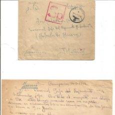 Militaria: SOBRE Y CARTA. VOLUNTARIO DE LA DIVISIÓN AZUL. 14 JUNIO 1942.. EN EL FRENTE. NO SE PAGÓ!!. Lote 296776013