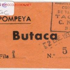 Militaria: (GUERRA CIVIL)ENTRADA TEATRO POMPEYA CNT-AIT. Lote 1625377