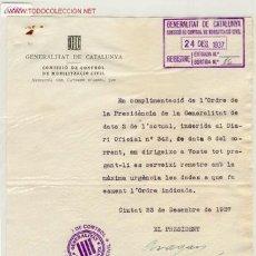 Militaria: (GUERRA CIVIL)DOCUMENTO MOBILITZACIO. Lote 1520427