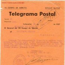 Militaria: (GUERRA CIVIL)DOCUMENTO VII CUERPO DE EJERCITO. Lote 1402957