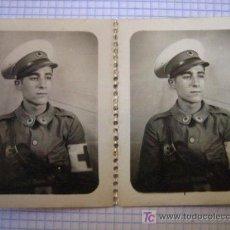 Militaria: 2 FOTOS DE 3 X 4 CMS PINS DEL VALLÈS. Lote 3195871