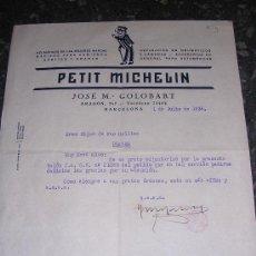 Militaria: FACTURA PETIT MICHELIN, 1936 TAMPON DE C.N.T. - A.I.T.. Lote 8190824
