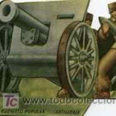 Militaria: TROQUELADOS DE LA GUERRA CIVIL ESPAÑOLA, EJERCITO POPULAR ARTILLERIA. Lote 8670957