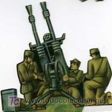Militaria: CROMO TROQUELADO AMETRALLADORA ANTIAEREA EJERCITO POPULAR. Lote 4923952