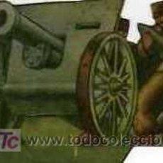 Militaria: CROMO TROQUELADO ARTILLERIA EJERCITO POPULAR. Lote 4923965