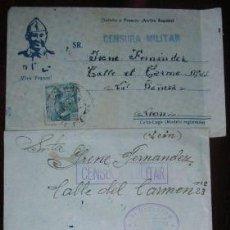 Militaria: LOTE DE CARTAS CON CENSURA MILITAR DE LA ESPAÑA NACIONAL. ÉPOCA GUERRA CIVIL 1936-39. ROCT07.76. Lote 13340703