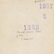 Militaria: EXPEDIENTE POR DESERCIÓN. INCOADO EN VALENCIA DURANTE LA GUERRA CIVIL. 1937. . Lote 7250464