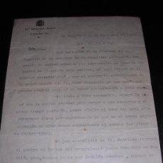 Militaria: CARTA DE LA 37ª BRIGADA MIXTA, BATALLON 146- 1937, CORRESPONDENCIA FAMILIAR. Lote 8025346