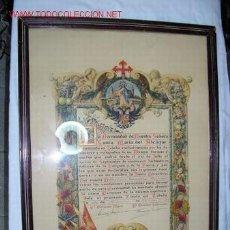Militaria: INTERESANTE Y RARO DOCUMENTO DEL DEFENSOR DEL ALCAZAR DE TOLEDO. Lote 18331867