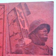 Militaria: CARNET FASCIO DI COMBATTIMENTO-XVIII TARANTO , ITALIANOS QUE VINIERON A LA GUERRA CIVL. Lote 24346227