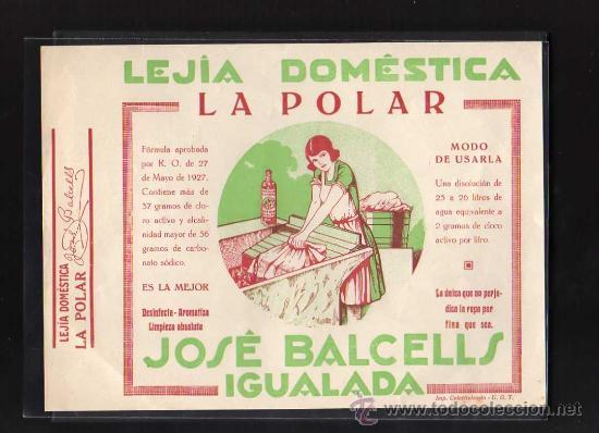 IGUALADA - JOSE BALCELLS LEJIA DOMESTICA LA POLAR, IMP. COL·LECTIVIZADA UGT, 1937 - 38 (Militar - Guerra Civil Española)