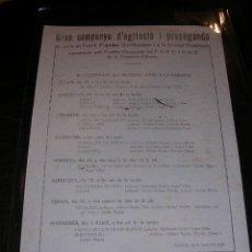 Militaria: OCTAVILLA - IGUALADA MARÇ 1938 - GRAN CAMPANYA D'AGITACIO I PROPAGANDA DE CARA AL FRONT POPULAR. Lote 13493890