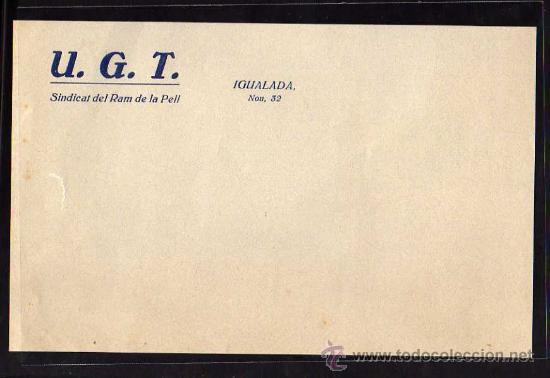 IGUALADA - UGT SINDICAT DEL RAM DE LA PELL (Militar - Guerra Civil Española)
