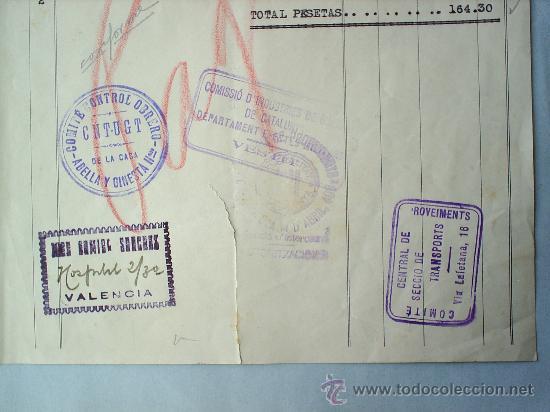 COMITE CONTROL OBRERO-CNT-UGT-DICIEMBRE 1936-GUERRA CIVIL-BARCELONA -VALENCIA (Militar - Guerra Civil Española)