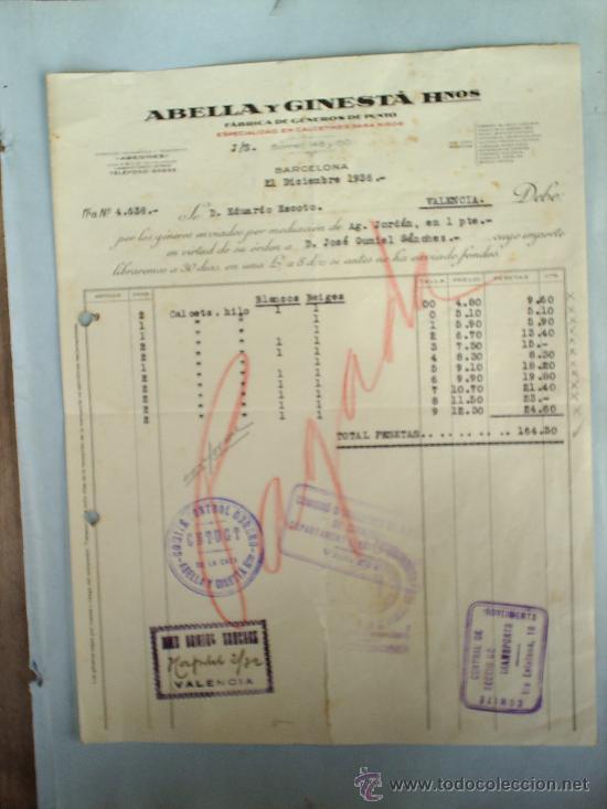 Militaria: COMITE CONTROL OBRERO-CNT-UGT-DICIEMBRE 1936-GUERRA CIVIL-BARCELONA -VALENCIA - Foto 2 - 18220902