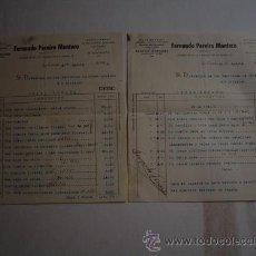 Militaria: AGOSTO 1936 GUERRA CIVIL FACTURA CUYO IMPORTE SE CEDE AL EJERCITO. Lote 27111735