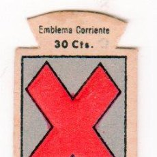 Militaria: EMBLEMA DE AUXILIO SOCIAL DE 30 CENTIMOS. SERIE B. Nº 101. IGUALADA. Lote 13834169