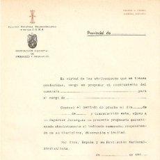 Militaria: FALANGE ESPAÑOLA TRADICIONALISTA Y DE LAS JONS. Lote 19648070