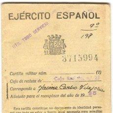 Militaria: CARTILLA MILITAR REPUBLICANA 1935/36, INICIO DE LA GUERRA CIVIL ESPAÑOLA 1936-39. . Lote 26643350