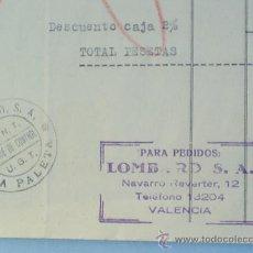 Militaria: HOJA FACTURA TAMAÑO FOLIO CON MEMBRETE CNT UGT ,VALENCIA,DICIEMBRE 1936. Lote 24376372