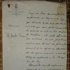 Militaria: 1936 GUERRA CIVIL OFICIO DEL ALCALDE DE MONDOÑEDO SOBRE INCIDENCIAS CONVOY. Lote 24936047