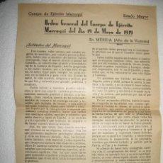 Militaria: DOCUMENTO DEL CUERPO DE EJERCITO MARROQUÍ.GUERRA CIVIL ESPAÑOLA.. Lote 27412447