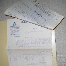 Militaria: 1937 GUERRA CIVIL VIGO RECLAMACION DE PAGO DE SUMINISTROS DE MATERIAL KRUPP. Lote 26446482