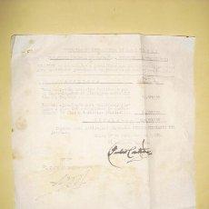 Militaria: 1º DE NOVIEMBRE DE 1936 GUERRA CIVIL DOCUMENTO DEL EJERCITO DE OPERACIONES EN ASTURIAS. Lote 26804233