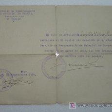 Militaria: SERVICIO DE RECUPERACIÓN DE MATERIAL DE GUERRA. GUERRA CIVIL ESPAÑOLA MARZO DE 1939. Lote 25918292