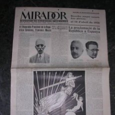 Militaria - REPUBLICA,-MIRADOR,PROCLAMACION DE LA REPUBLICA,16 D'abril1931,ILUSTRADO,56X40 CM.8 PAG. - 18037089