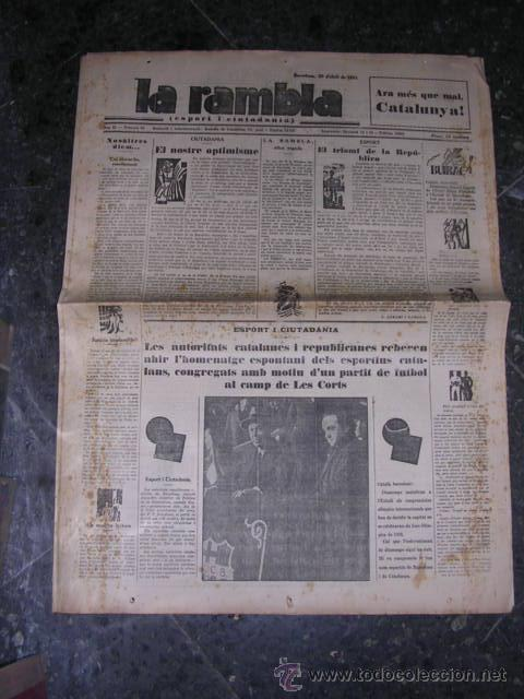 REPUBLICA,-LA RAMBLA,PROCLAMACION DE LA REPUBLICA,20 ABRIL 1931-ILUSTRADO,14 PAG. 58X43 CM. (Militar - Guerra Civil Española)